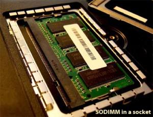 SODIMM in a socket