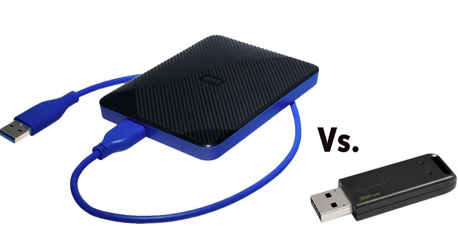 USB hard drive and USB keychain drive