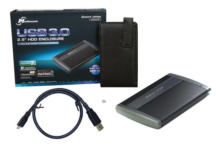 External 2.5 inch USB drive enclosure